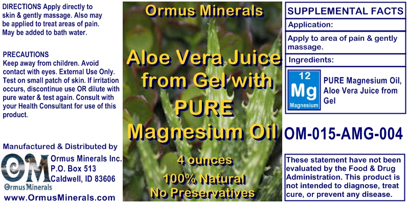 Aloe Vera and Magnesium Oil