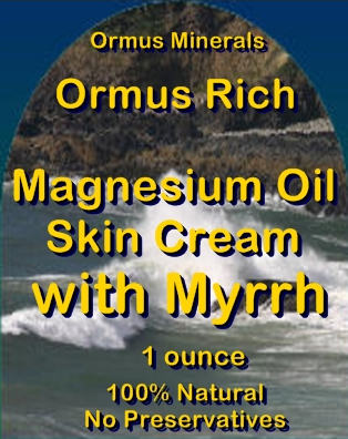 Ormus Minerals -Ormus Rich Magnesium Oil Skin Cream with MYRRH
